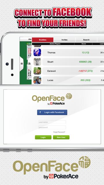 Open Face by PokerAce screenshot 4
