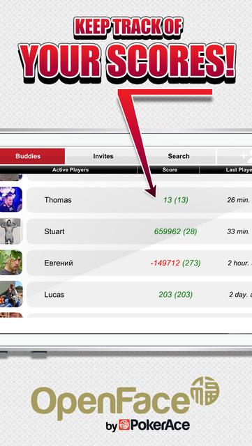 Open Face by PokerAce screenshot 5