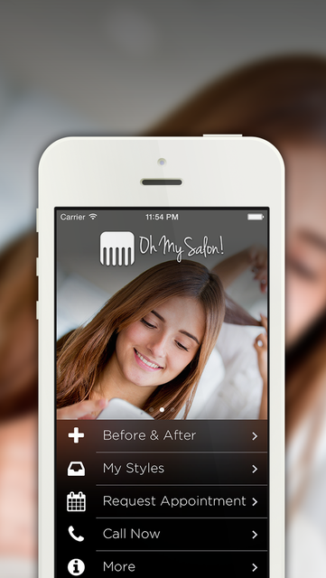 OhMySalon - A fun, simple, and useful app for your salon! screenshot 1