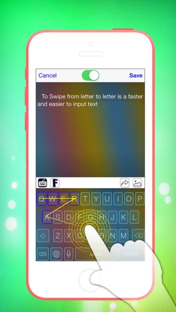 Swipe & Type Keyboards & Color Keyboards To Cool Fonts screenshot 1