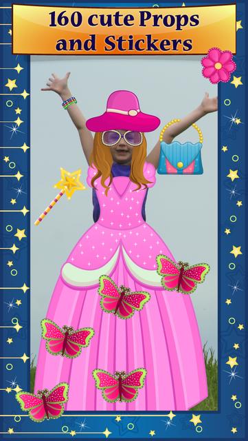 My Little Princess Photo Booth- Fairy tale dress up editor for girls screenshot 1