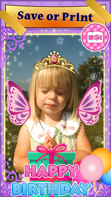 My Little Princess Photo Booth- Fairy tale dress up editor for girls screenshot 3