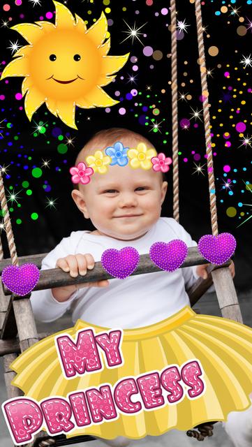 My Little Princess Photo Booth- Fairy tale dress up editor for girls screenshot 5