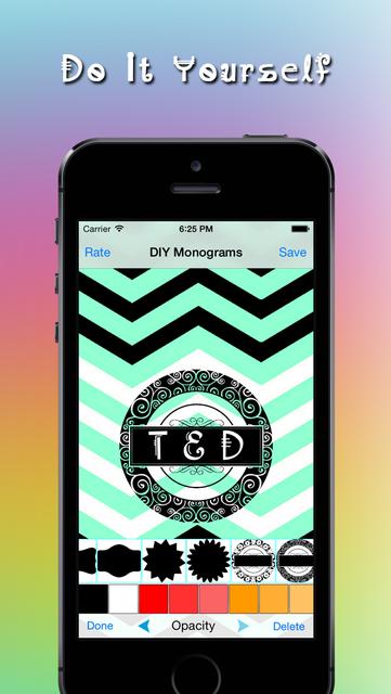 Monogram DIY - Do It Yourself Wallpaper Maker screenshot 1