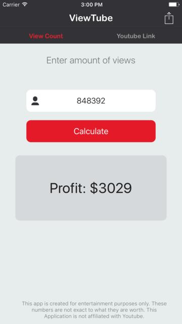 ViewTube - Calculate Video Revenue for You-Tube screenshot 3