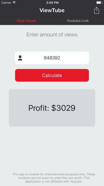 ViewTube - Calculate Video Revenue for You-Tube screenshot 5