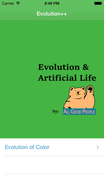 Evolution++ & Artificial Life screenshot 1