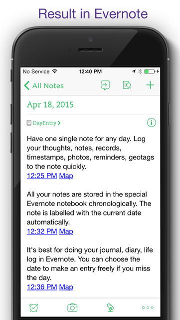 DayEntry - quick diary, journal for Evernote screenshot 2
