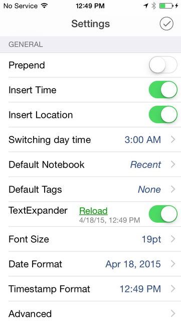 DayEntry - quick diary, journal for Evernote screenshot 5