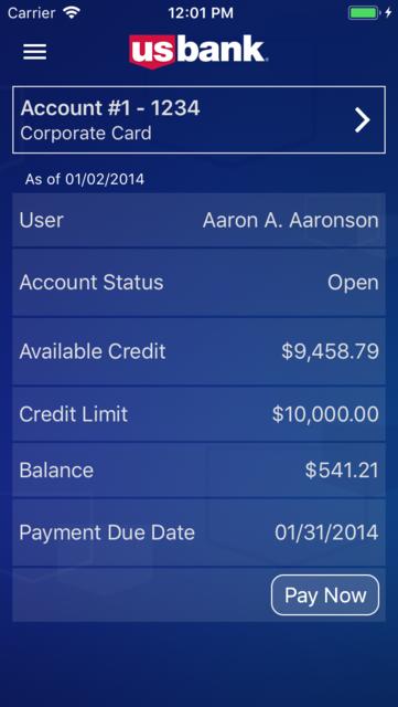 U.S. Bank Access® OnlineMobile screenshot 5