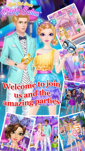 Party Salon - Girls Makeup & Dressup Games screenshot 14