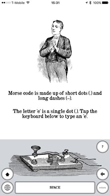 TeleKey - Morse Code Telegraph Keyboard screenshot 1