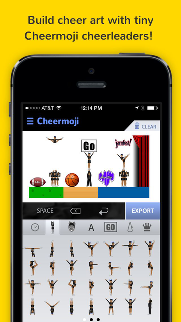 Cheermoji - cheerleading emojis for cheerleaders to build tiny cheer stunts screenshot 6
