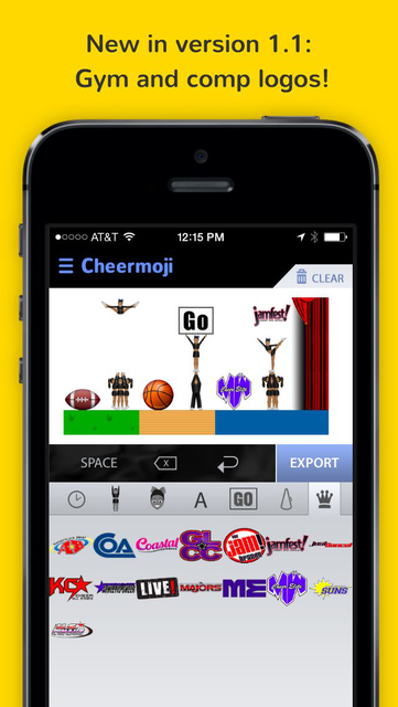 Cheermoji - cheerleading emojis for cheerleaders to build tiny cheer stunts screenshot 7