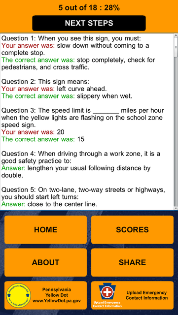 PA Driver's Practice Test screenshot 12