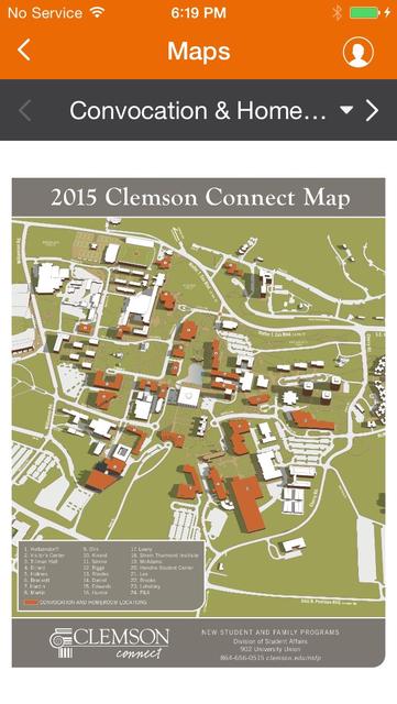 Clemson University Events screenshot 4