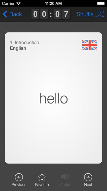 learndutch.org - Flashcards 1000 Dutch Words screenshot 3