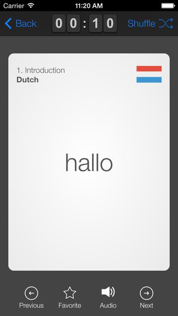 learndutch.org - Flashcards 1000 Dutch Words screenshot 4
