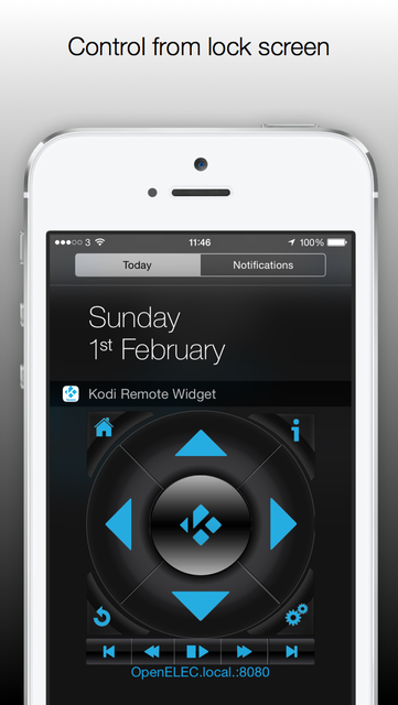 Kodi / XBMC Remote Control Widget screenshot 1