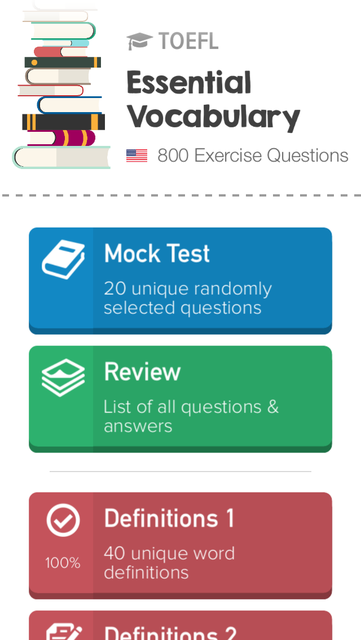 TOEFL Practice: Vocabulary screenshot 1