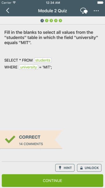 Learn SQL screenshot 2