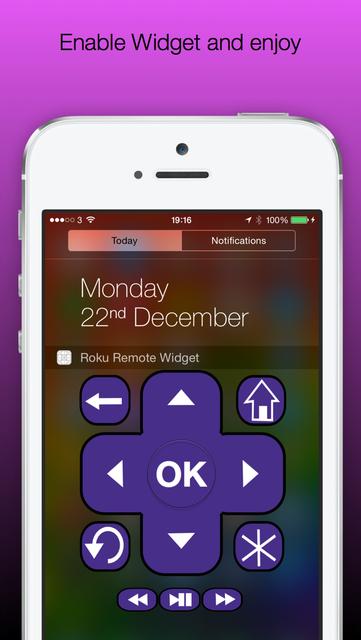 Roku Widget Remote screenshot 1