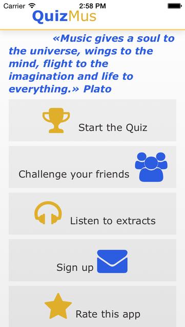QuizMus Classical Music Quiz screenshot 1