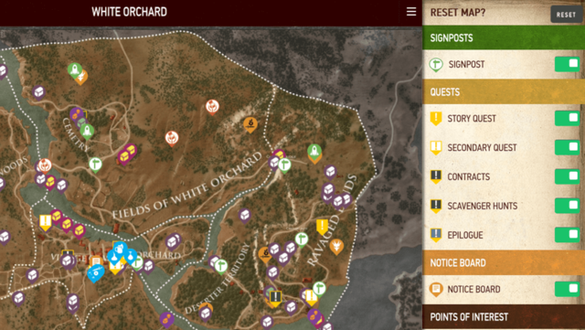 The Witcher 3: Wild Hunt Map Companion