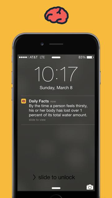 Brain Power - Daily Facts screenshot 1