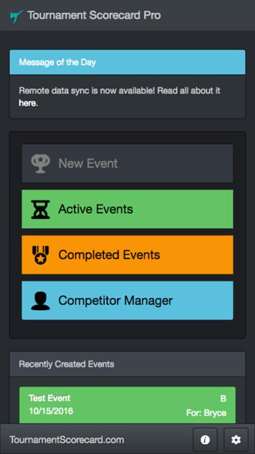 Tournament Scorecard Pro screenshot 1