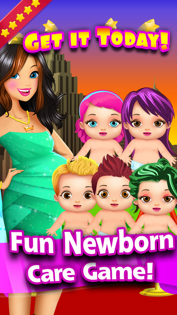 My New-Born Baby Celebrity - Mommy's fun girl and pregnancy kid's care game free screenshot 5