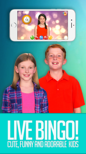 KID BINGO - Live Kid Bingo & Slots! screenshot 1